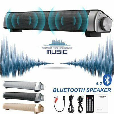 Portable Wireless Bluetooth Speaker 3D Sound TV Home Theater with Remote Control