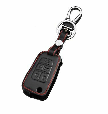 Rpkey Leather Keyless Entry Remote Control Key Fob Cover
