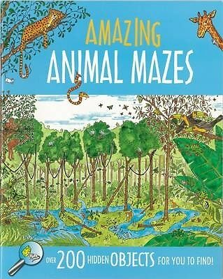 AMAZING ANIMAL MAZES BOOK.....32 PAGES....  new