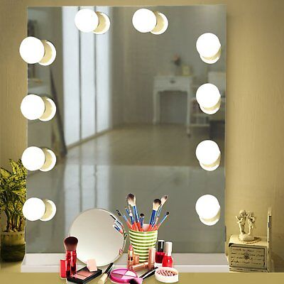 CHENDE White Hollywood Makeup Vanity Mirror w/ Light Stage Large Beauty Mirror M