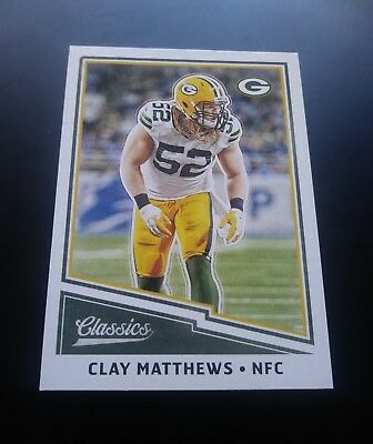 Clay Matthews Green Bay Packers #82 Panini Classics 2017 NFL Football Card