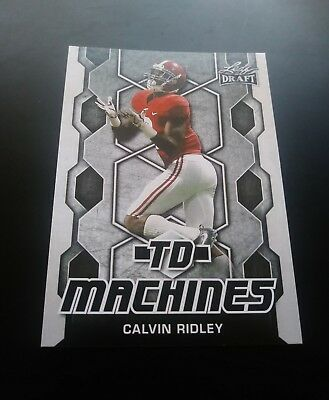Calvin Ridley Atlanta Falcons RC Rookie TD Machines Leaf Draft 2018 NFL Card