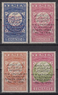 Yemen 1959 ** Mi.184/87 Thronbesteigung Enthronement König King Ahmed I.
