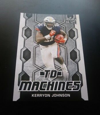 Kerryon Johnson Detroit Lions RC Rookie TD Machines Leaf Draft 2018 NFL Card
