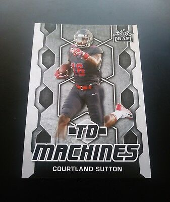 Courtland Sutton Denver Broncos RC Rookie TD Machines Leaf Draft 2018 NFL Card