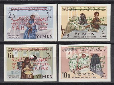 Yemen 1963 ** Mi.271/74 B Freimarken Definitives Menschen Humans Persons