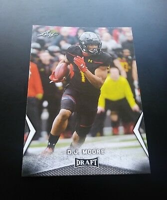 D.J. Moore Carolina Panthers RC Rookie #14 Leaf Draft 2018 NFL Football Card