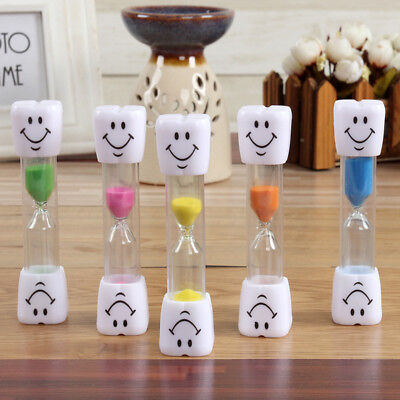 3 Mins Hourglass Kids Tooth Brushing Timer Clock Smile Face Alluring Home Decor