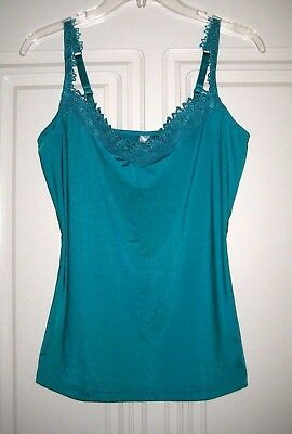 INTIMO floral lace trim camisole - Size 12