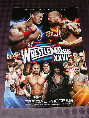 WWE Wrestlemania 28 official program WWF vintage programme