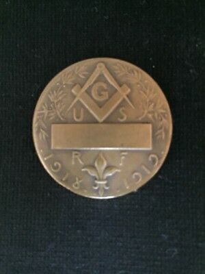Medaille Maçonnique 1918/Old Masonic medal 1918