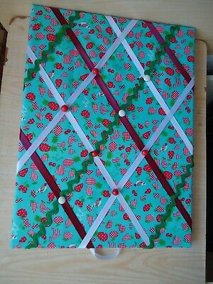 Material covered memo/notice/pin board Blue mix