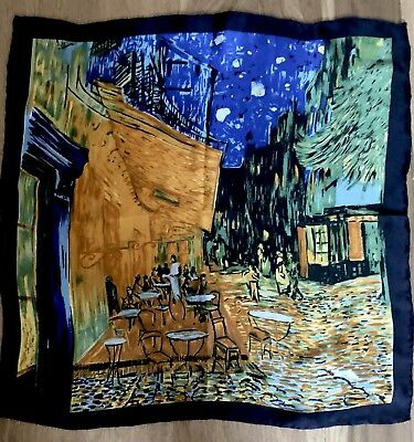Beautiful VINCENT VAN GOGH 'Cafe Terrace By Night' Art Print Silk Scarf