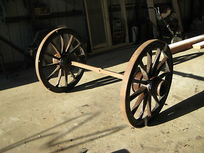Antique Wagon Wheels With Axel
