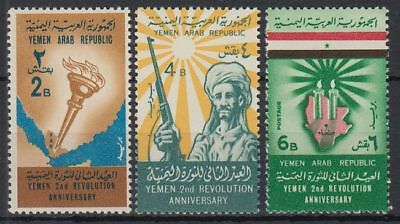 Yemen 1964 ** Mi.402/04 Landkarte Map Revolution Stammeskrieger Tribal Warrior