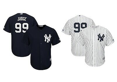Men's New York Yankees #99 Aaron Judge Majestic Navy White Jersey Baseball MLB