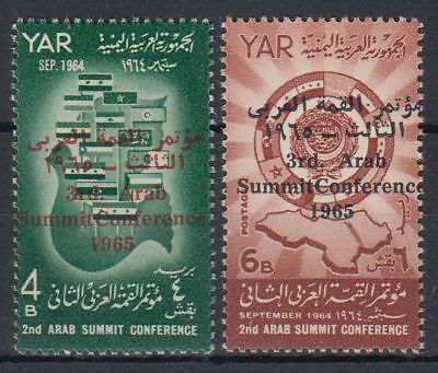 Yemen 1966 ** Mi.471/72 Gipfelkonferenz Summit Conference Politics