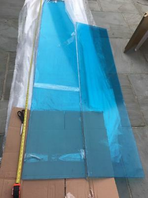 Clear Perspex sheets x2 - 180cm long, 280cm long - NEW