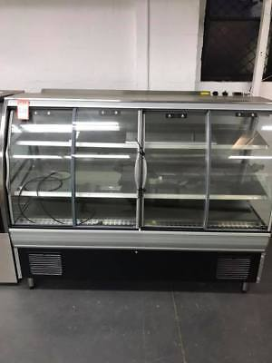 Commercial Food Curved Display Fridge