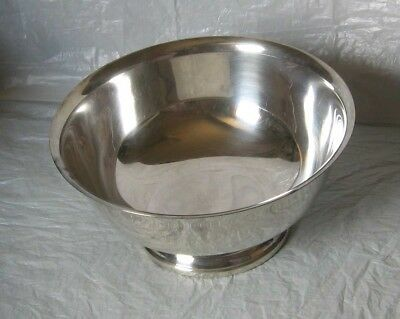 """Vintage Gorham Silver Plated 8"""" Footed Serving Bowl Paul Revere Reproduction"""