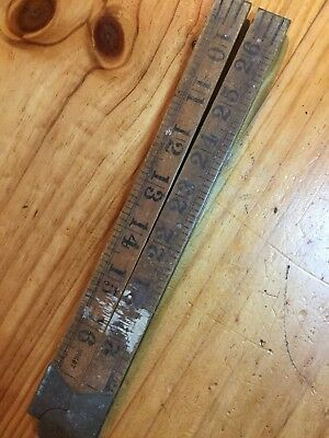 Vintage RABONE No:1167 English Boxwood RULER 36in 3ft Old Antique Hand Tools #82