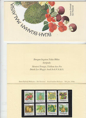 Malaysia Pres Pack 1986 Fruits
