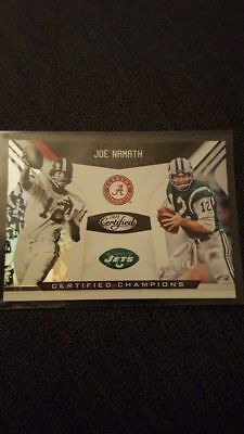 2018 Panini Certified Champions Insert Joe Namath New York Jets
