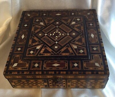 Antique Inlay musical box, large.EC