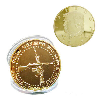 US President Donald Trump Gold Plated Commemorative Coin 2018