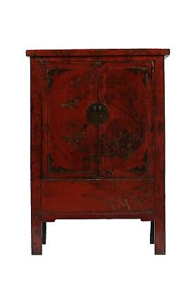 Antique Red Chinese Wardrobe from Shanxi
