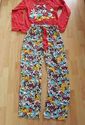 "Schlafanzug Damen langarm Pyjama Disney  100% Baumwolle ""Sleep all Day"""