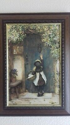 Antique oil painting signed