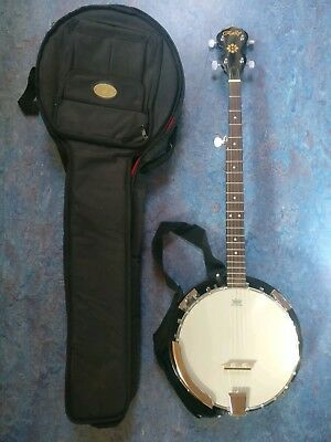 Rally 5 String Banjo with Soft Case and strap