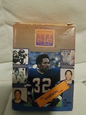 The OJ Simpson Case 50 Card Boxed Set