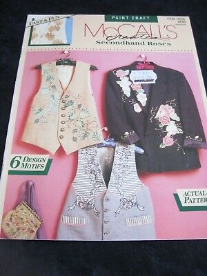 McCalls Paint Craft secondhand Rose -  revamp vests and jackets