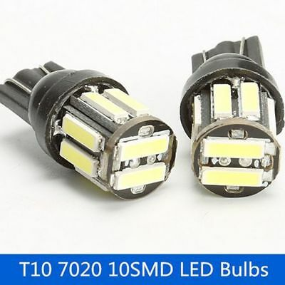 2Pcs Car Universal LED Show Parking Wide Lamp T10 7020 10SMD License Lights WY