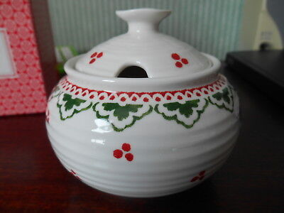 Portmeirion  Sophie Conran Christmas Covered Sugar Bowl  New Boxed