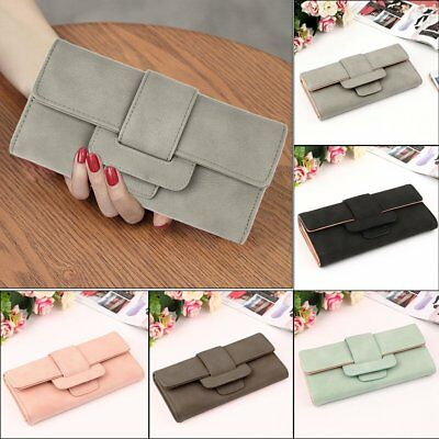 Women Long Wallet PU Leather Hasp Clutch Purses Ladies Coin Wallet Card Holder A