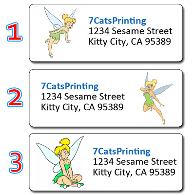 30 Personalized Return Address Labels Disney Tinker Bell Fairy
