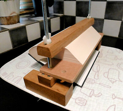 Fore Edge Book Painting Gilding Clamp. Bookbinding Press. Solid Oak Jaws Press.