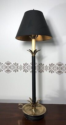 Fredrick Cooper Table Lamp Pineapple Brass Candlestick with Original Shade