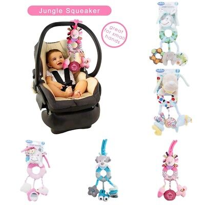 Baby Plush Toys Infant Stroller Bed Rattle Hanging Doll Animal Stuffed Toy Kid