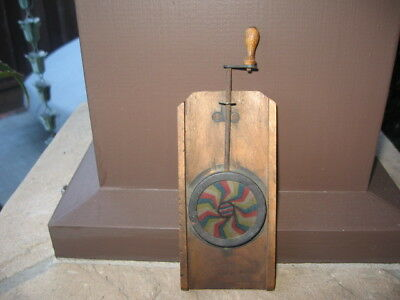 Rare Interesting Antique Primitive Hand Made Wood Kaleidoscope & Steampunk