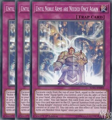 Yugioh - 3x Until Noble Arms are Needed Once Again SOFU-EN091 Common - 1st Ed