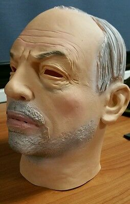 The General Realistic latex full head old man mask halloween cosplay rubber