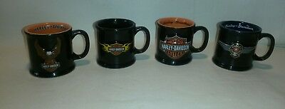 ☆ NEW LOT OF 4 Harley-Davidson 3D Mini Coffee Mugs Official licensed Harley F/SH
