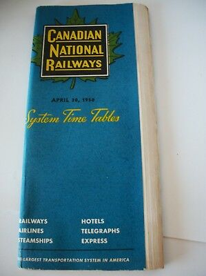 Canadian National Railways Time Tables April 30, 1950~85 pages~CNR