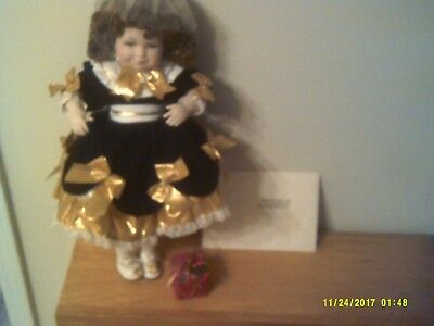 "Used Marie Osmond Fine Porcelain 16""  BRYANNA  Doll  ""Christmas Series"""
