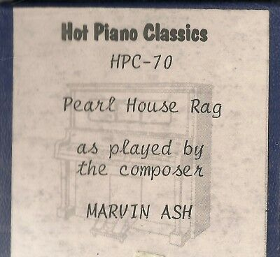Pearl House Rag, as played by Marvin Ash, HPC 70 Piano Roll Original