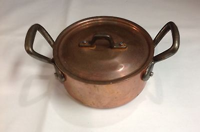 BAUMALU Solid Copper Covered Small Pot Lined-Made in France